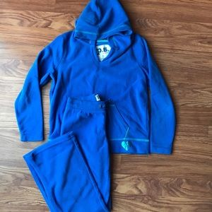 P.S. from Aeropostale royal blue fleece XS/7 set
